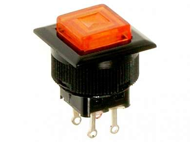 Кнопка M16 OFF-(ON) RWD-313 LED 1.5A/250V 4c -красная-
