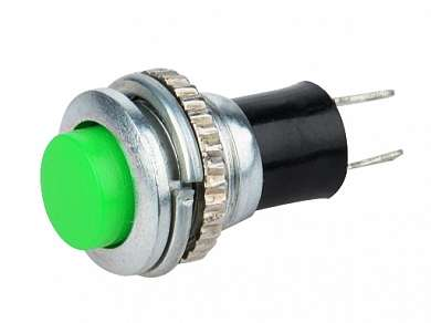 Кнопка M10 OFF-(ON) RWD-304 (DS-316) 1A/250V 2c -зеленая-